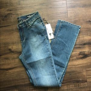 Buffalo David Bitton Mid Rise Straight Leg Jeans
